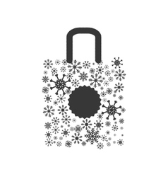 Shopping bag icon merry christmas design vector