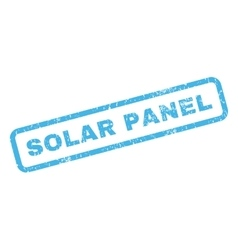 Solar panel rubber stamp vector