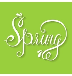 Typographic Lettering - Spring vector image vector image