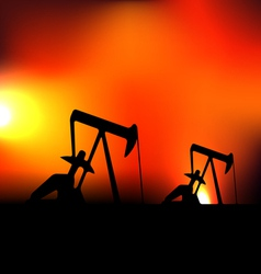 with working oil pumps vector image