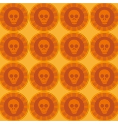 Mexican sugar skull pattern vector