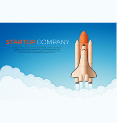 Business startup concept rocket or space shuttle vector