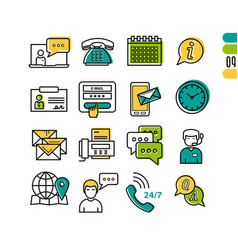 online support - linear icons vector image