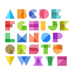 Geometric shapes alphabet letters vector image