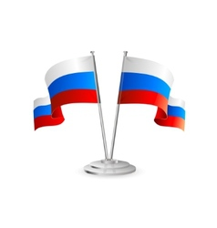 Russian table flag vector image