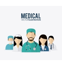Medical care design vector