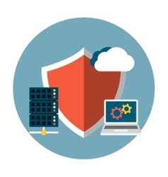 Data protection flat vector
