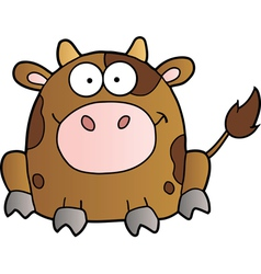 Cow cartoon mascot character vector