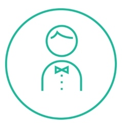 Waiter line icon vector