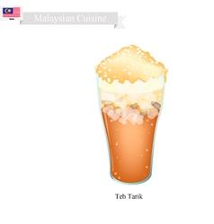 Teh Tarik A Famous Beverage in Malaysia vector image