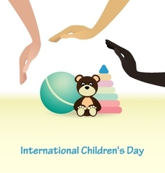 International childrens day concept vector