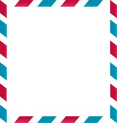 Air mail frame on white background vector