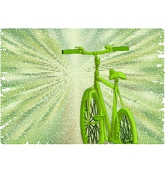 bicycle green road vector image