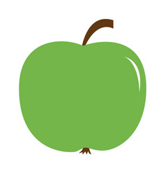 Big fresh green apple icon healthy food lifestyle vector
