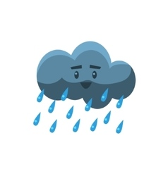 Cloud pouring rain vector