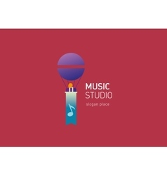 creative logo for the music studio vector image