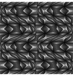 Design seamless monochrome movement pattern vector image