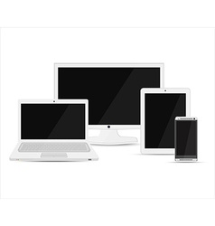 Electronic device set vector image vector image