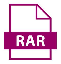 File name extension rar type vector