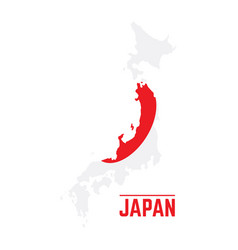 flag and map of japan vector image