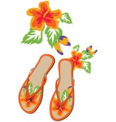 flip flop flowers vector image