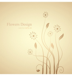 flowers design vector image vector image