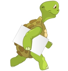 Funny Turtle Courier vector image