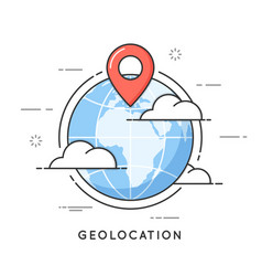 Geolocation thin line concept vector