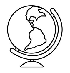 globe icon outline line style vector image
