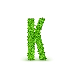 Green Leaves font K vector image vector image