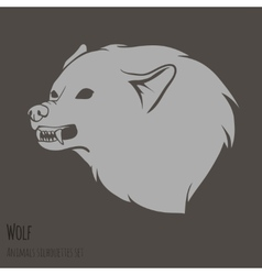 Grey Wolf Silhouette vector image vector image