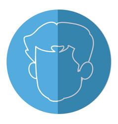 Head faceless male avatar line vector