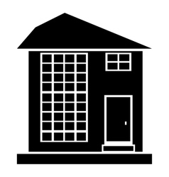 High house icon outline style vector