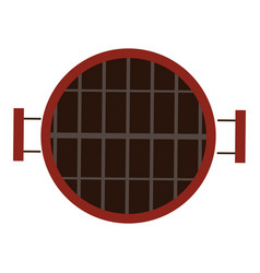 isolated grill icon vector image vector image