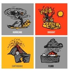 Natural Disasters Set vector image
