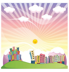 of a cityscape vector image