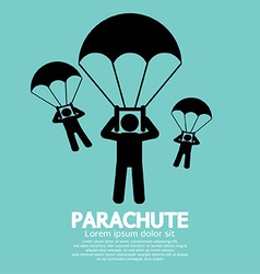 Parachutes skydiving sign vector