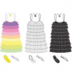 Party dress vector
