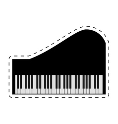 piano keyboard instrument music dotted line vector image vector image