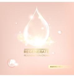 Regenerate cream and vitamin vector