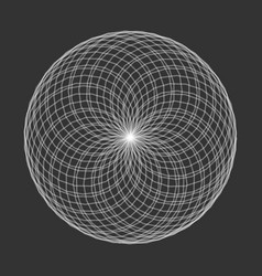 Spirograph element on black background abstract vector