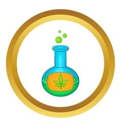 Test tube with marijuana leaf icon vector image