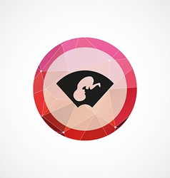 Ultrasound baby circle pink triangle background vector