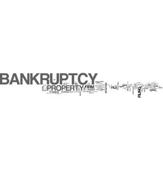 What is a bankruptcy firm text word cloud concept vector