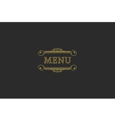 Restaurant menu headline vector