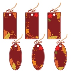 set of the autumnal price tags vector image