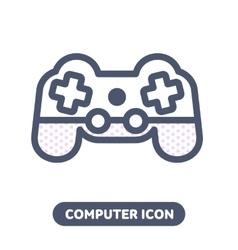 Icon game pad joystick vector