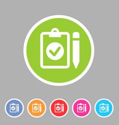 Clipboard checklisticon flat web sign symbol logo vector