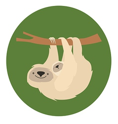 Cute white sloth family vector