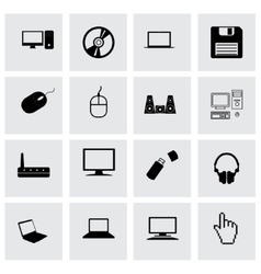 Compute icon set vector
